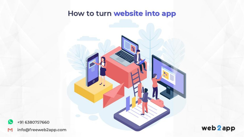 how to turn website into app-freeweb2app