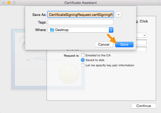 certificate signing request-freeweb2app