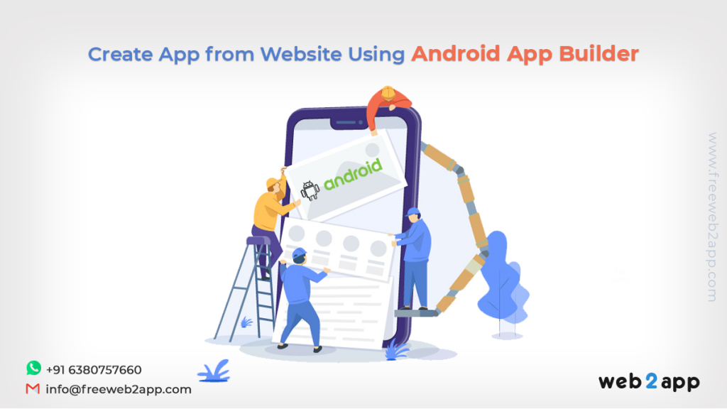 Create App From Website Using Android App Builder-freeweb2app