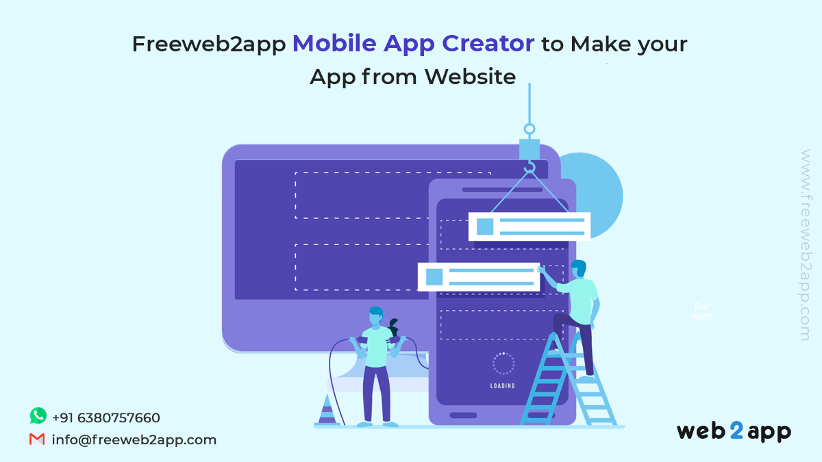 Freeweb2app Mobile App Creator to Make Your App From Website