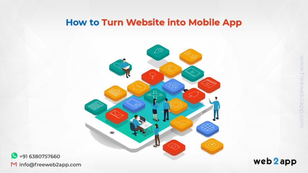 How to Turn Website into Mobile App-freeweb2app