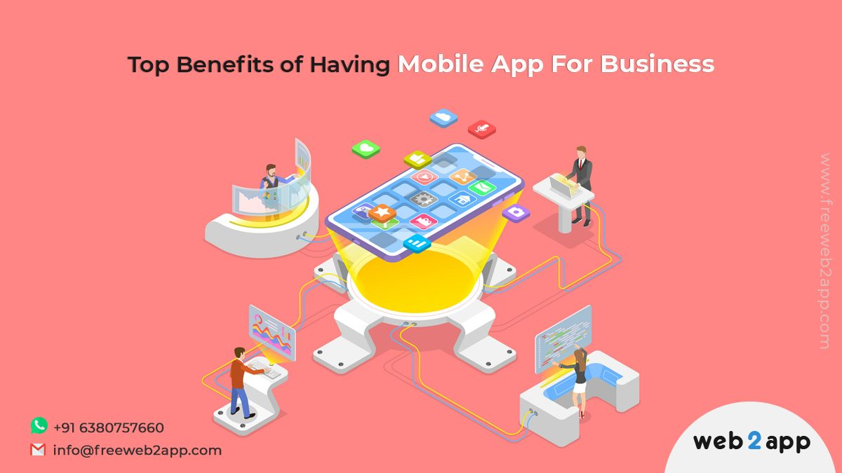 Top Benefits of Having Mobile App for Business-Freeweb2app
