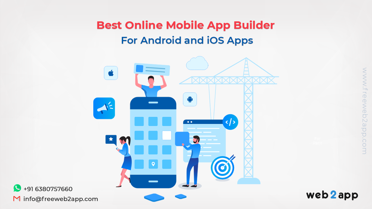 Best Online Mobile App Builder for Android and iOS Apps-Web2appz
