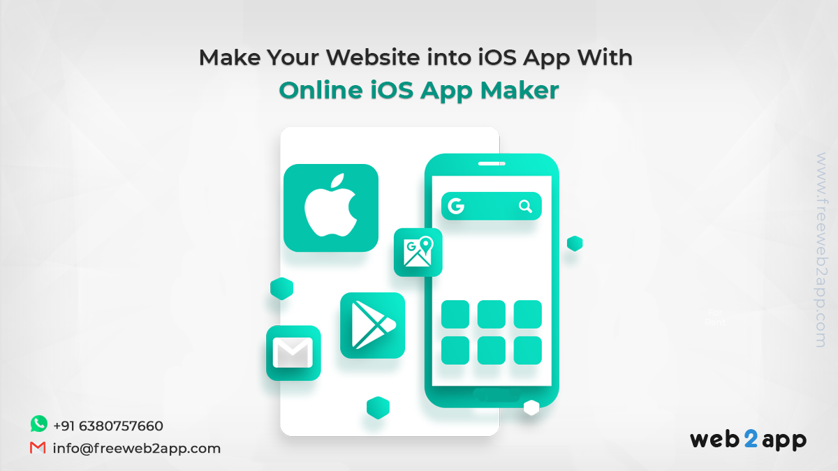 Make Your Website into iOS App with Online iOS App Maker-freeweb2app
