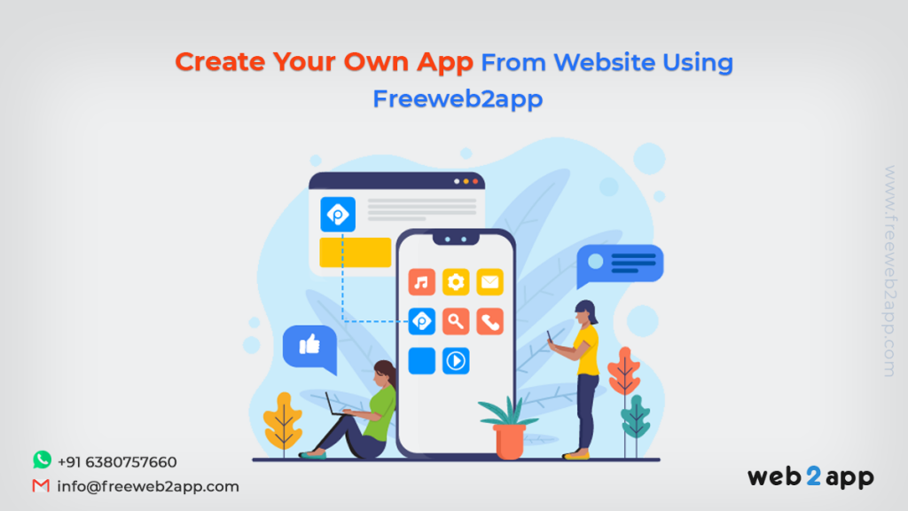 Create Your Own App from Website Using Freeweb2app