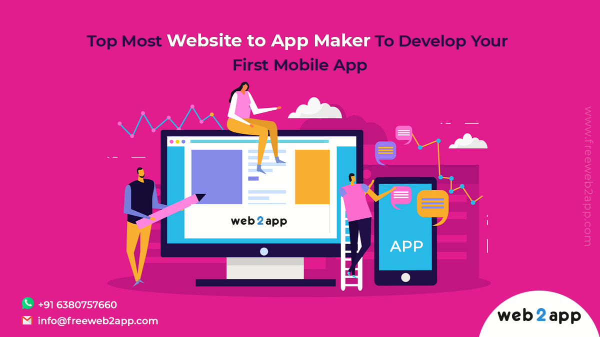 Top Most Website to App Maker To Develop Your First Mobile App - Freeweb2app