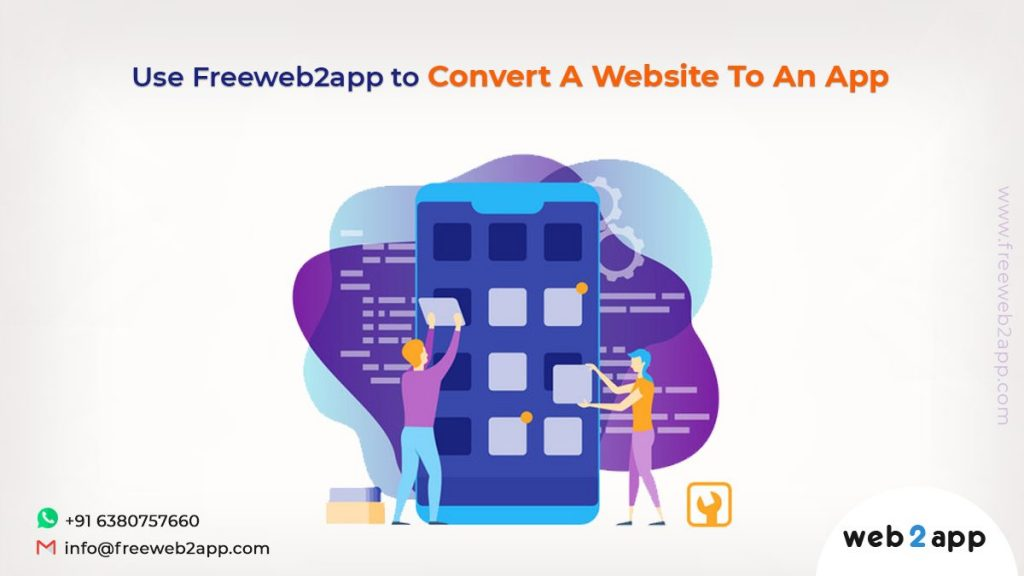 Use Freeweb2app to Convert A Website To An App