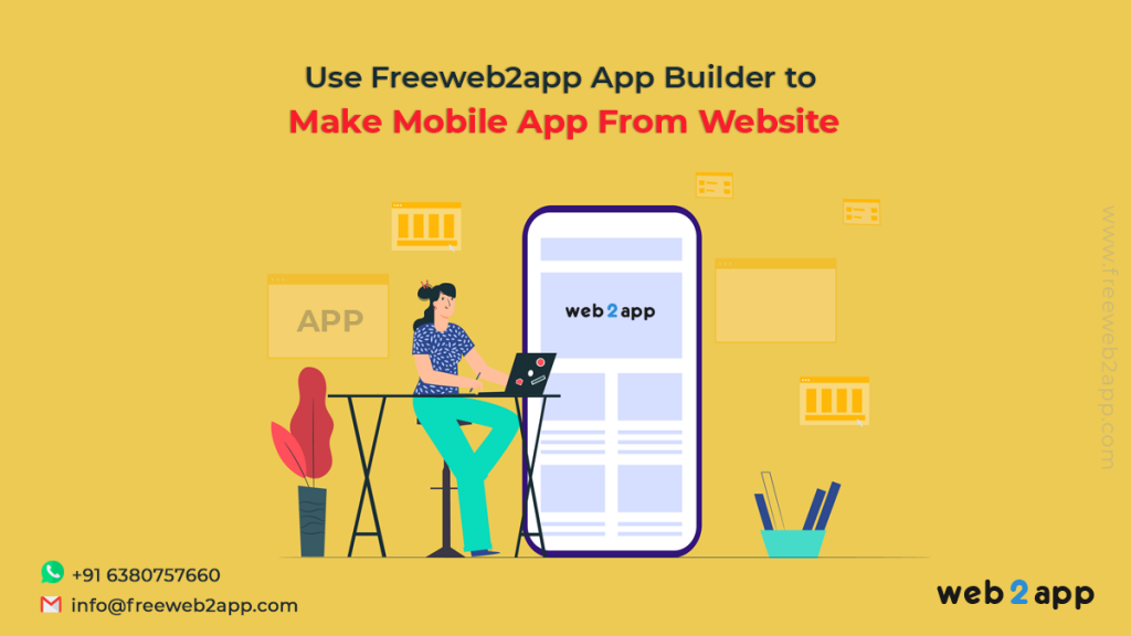 Use Freeweb2app App Builder to Make Mobile App From Website - freeweb2app