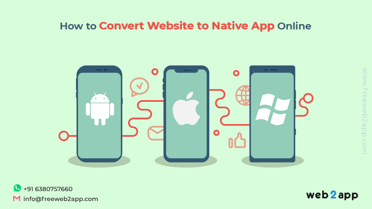 How to Convert Website to Native App Online - Freeweb2app