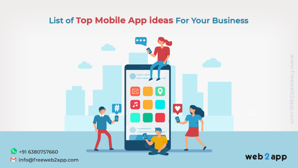 List of Top Mobile App ideas For Your Business - freeweb2app