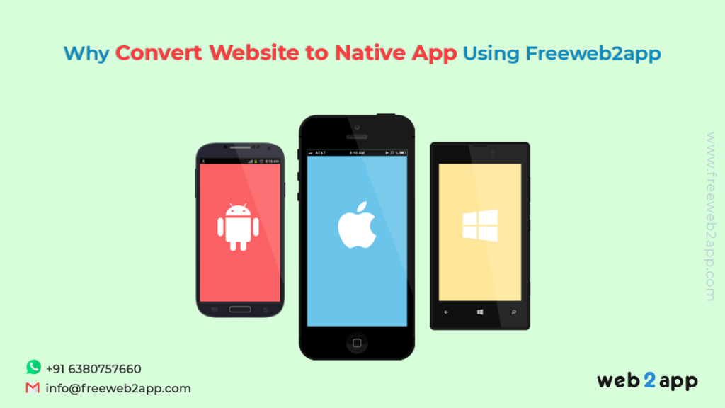 Why Convert Website to Native App Using Freeweb2app